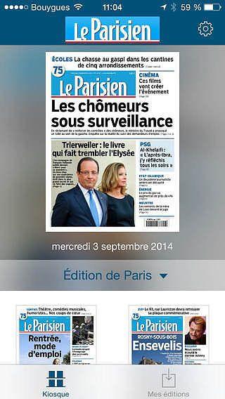Le journal Le Parisien pour mac