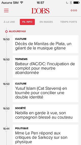 L'Obs, l'actualité en temps réel en France et dans le monde pour mac