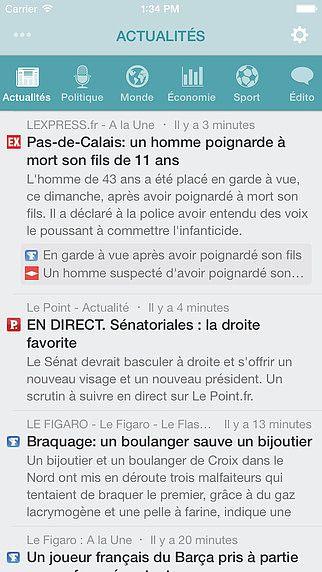 NewsFlash ~  Actualité française en temps réel pour mac