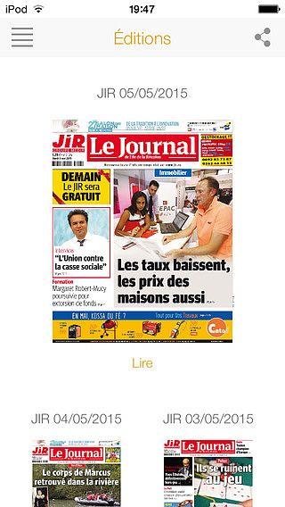 Journal de l'île de la Réunion pour mac