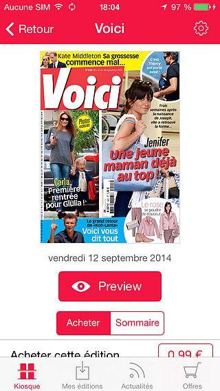 Voici: le magazine féminin people pour mac