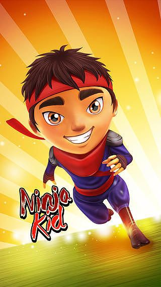 Ninja Kid Run by Fun Games For Free pour mac