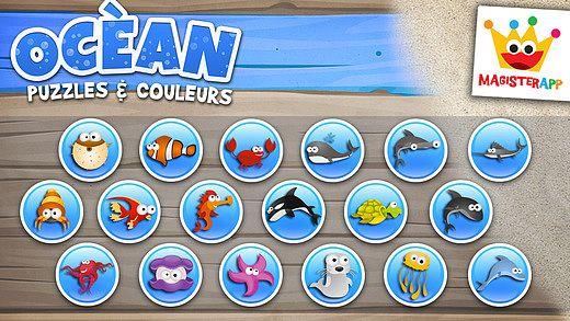 Océan - Puzzle, Couleurs et Dessins - Jeux pour Enfants pour mac