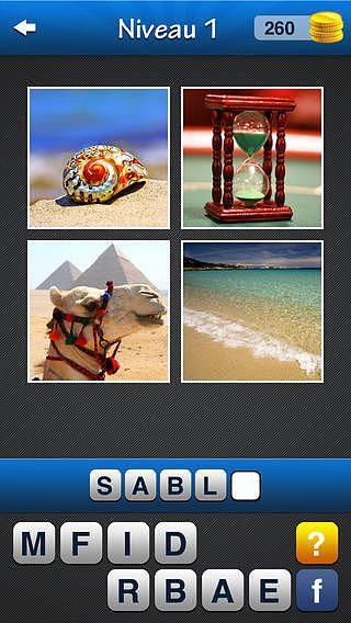 Jeu de mots ~ Quiz avec des images et des mots. Quel est le mot? pour mac