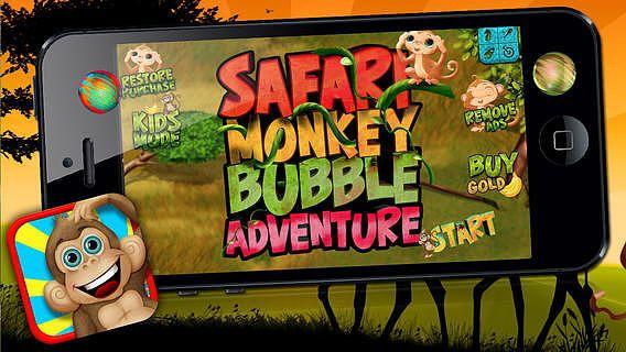Safari singe Bubble Adventure - Jeu gratuit pour mac
