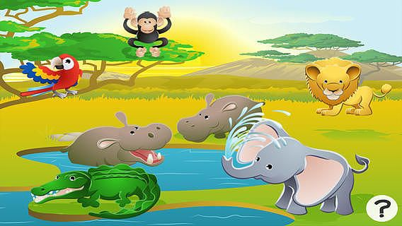 Jeu éducatif sur les animaux du safari pour les enfants de 2-5 a pour mac