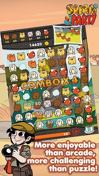 Safari Party - Puzzle Match 3 avec Multijoueur pour mac